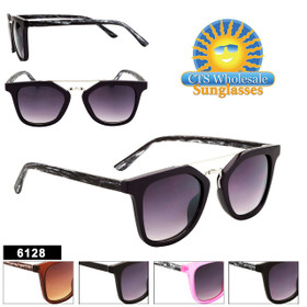 Retro Hipster Sunglasses Wholesale- Style #6128 (Assorted Colors) (12 pcs.)
