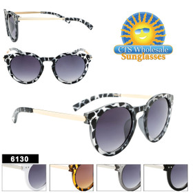 Fashion Sunglasses Wholesale- Style #6130 (Assorted Colors) (12 pcs.)