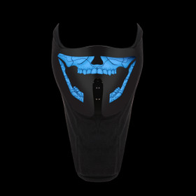 Skull LED Masks M005 (1 pc.) Voice Activated LED Masks!