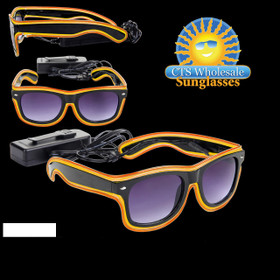 Orange & Yellow LED Sunglasses LS003 (1 pc.)
