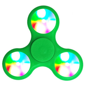 Green LED Fidget Spinners