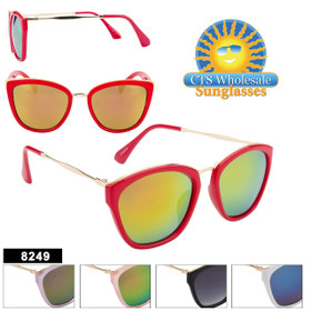 Retro Sunglasses for Women - Style #8249 (Assorted Colors) (12 pcs.)