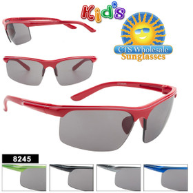 Bulk Sports Sunglasses For Kids - Style #8245 (Assorted Colors) (12 pcs.)