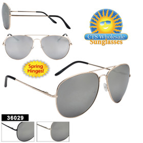 Wholesale Mirrored Aviators - Style #36029 Spring Hinge (Assorted Colors) (12 pcs.)