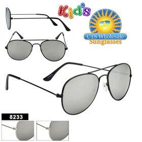 Mirrored Kid's Aviator Sunglasses Wholesale - Style #8233