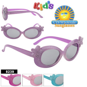Girl's Wholesale Sunglasses - Style #8239 (Assorted Colors) (12 pcs.)