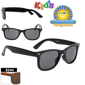 Kids Classic Sunglasses - Style #8244 (Assorted Colors) (12 pcs.)