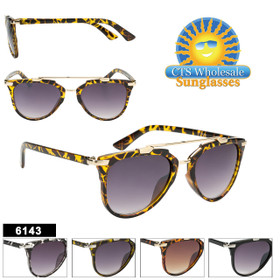 Retro Sunglasses - Style #6143 (Assorted Colors) (12 pcs.)
