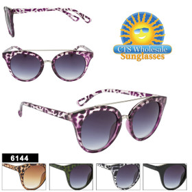 Wholesale Retro Cat-Eye Sunglasses - Style #6144 (Assorted Colors) (12 pcs.)