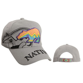 Wholesale Native Baseball Hat ~ Grey