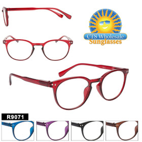 Bulk Reading Glasses - R9071 (12 pcs.) Assorted Colors ~ Lens Strengths +1.00—+3.50