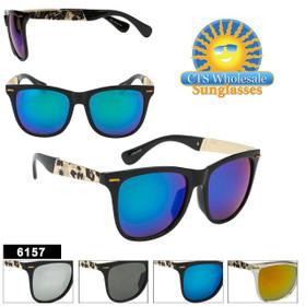 Wholesale Sunglasses - Style #6157 (Assorted Colors) (12 pcs.)
