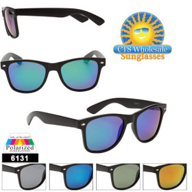 Polarized Mirrored California Classics - Style #6131 (Assorted Colors) (12 pcs.)