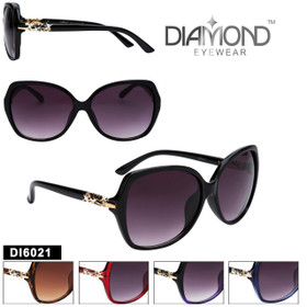 Wholesale Diamond™ Rhinestone Sunglasses - DI6021 (Assorted Colors) (12 pcs.)