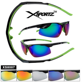 Xsportz™ Wrap-Around Sports Sunglasses XS8007 (Assorted Colors) (12 pcs.)