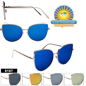 Fashion Sunglasses in Bulk  - Style #6167 (Assorted Colors) (12 pcs.)