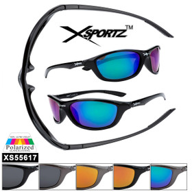 Polarized Xsportz™ Sports Sunglasses XS55617 (Assorted Colors) (12 pcs.)
