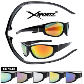 Bulk Xsportz™ Sports Sunglasses XS7048 (Assorted Colors) (12 pcs.)