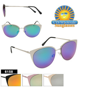 Wholesale Sunglasses - Style #6158 (Assorted Colors) (12 pcs.)