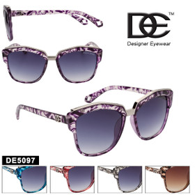 Cat Eye Sunglasses by DE™ Designer Eyewear - Style #DE5097 (Assorted Colors) (12 pcs.)