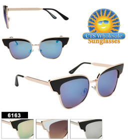 Wholesale Cat Eye Sunglasses - Style #6163 (Assorted Colors) (12 pcs.)