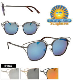 Wholesale Sunglasses - Style #6164 (Assorted Colors) (12 pcs.)