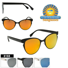 Bulk Cat Eye Sunglasses - Style #6168 (Assorted Colors) (12 pcs.)