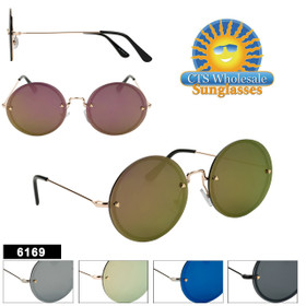 Hipster Wholesale Sunglasses - Style #6169 | (Assorted Colors) (12 pcs.)