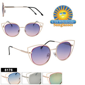 Wholesale Fashion Sunglasses - Style #6176 | (Assorted Colors) (12 pcs.)