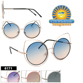 Women's Fashion Sunglasses - Style #6171 | (Assorted Colors) (12 pcs.)