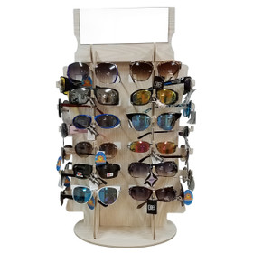 Rotating  Counter Top Sunglass Display D5014 (1 pc.) Holds 36 Pair