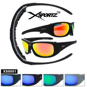 Xsportz™ Padded Sports Sunglasses XS8001 - Removable Pads! (Assorted Colors) (12 pcs.)