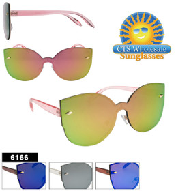 Fashion Sunglasses Wholesale - Style #6166  (Assorted Colors) (12 pcs.)