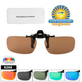 Clip On Sunglasses Wholesale with Polarized Lens 8268