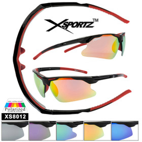 Xsportz™ Polarized Sunglasses Wholesale  - Style XS8012 (Assorted Colors) (12 pcs.)
