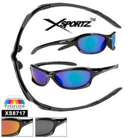 Polarized Xsportz™ Sunglasses Wholesale  - Style XS8717 (Assorted Colors) (12 pcs.)