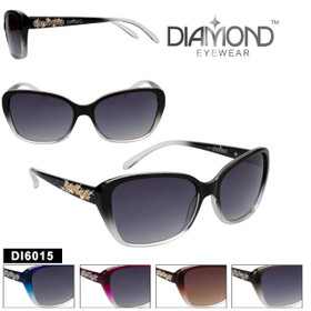 Diamond™ Rhinestone Sunglasses - DI6015 (Assorted Colors) (12 pcs.)