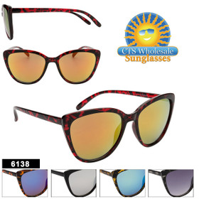 Fashion Sunglasses Wholesale - Style #6138 (Assorted Colors) (12 pcs.)