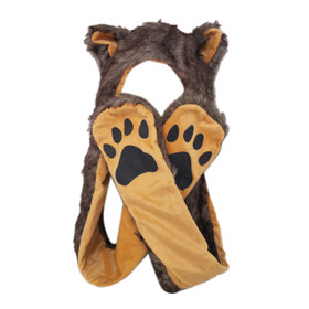 Wholesale Brown Wolf Animal Hat A129 (1 pc.)