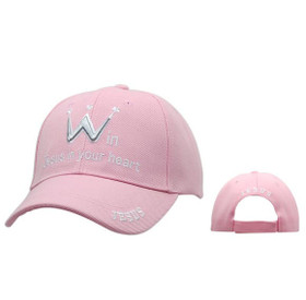 "Wholesale Baseball Cap ""Win Jesus in Your Heart"" C228 (1 pc.)"