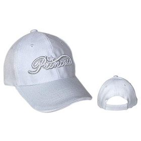 "Wholesale Infant Cap ""Princess"" White"