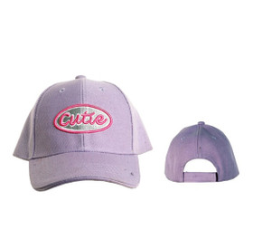 "Wholesale Kids Junior Sized Baseball Cap ""Cutie"" C1049 (1 pc.)"