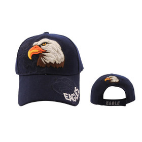 Wholesale Baseball Cap Bald Eagle Navy Blue