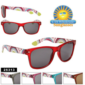 California Classics Sunglasses 25313 Fun Pattern! (Assorted Colors) (12 pcs.)