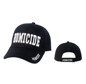 Black Wholesale Hats C1045 (1 pc.) Homicide in Block Lettering