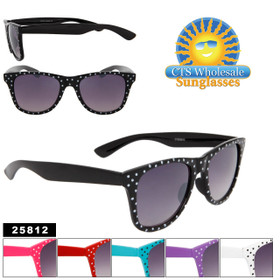 Sunglasses by the Dozen 25812 Polk-A-Dot Frames! (Assorted Colors) (12 pcs.)