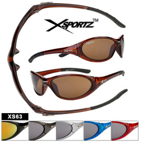 Xsportz Sports Sunglasses XS63 (Assorted Colors) (12 pcs.)
