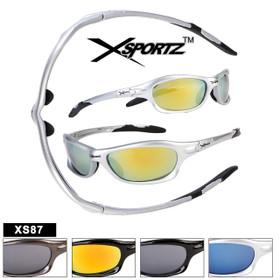 Xsportz Mens Sports Sunglasses XS87 (Assorted Colors) (12 pcs.)
