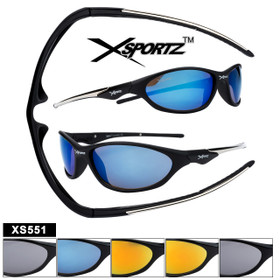 Xsportz Sunglasses XS551 Popular Sports Style (Assorted Colors) (12 pcs.)