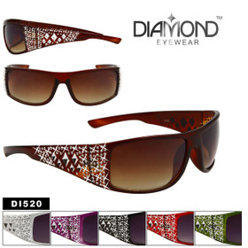 Diamond™ Fashion Sunglasses - DI520 (Assorted Colors) (12 pcs.)